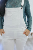 White Denim Overalls - Online Clothing Boutique