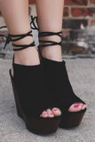 Lace Up Ankle Wooden Platform Wedges Arina-05