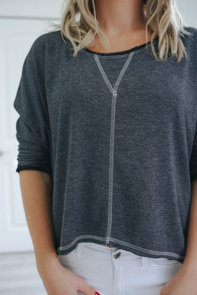 Dolman Sleeve Top - Online Clothing Boutique