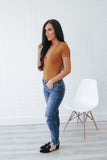 Short Sleeve Faux Wrap Bodysuit - Online Clothing Boutique