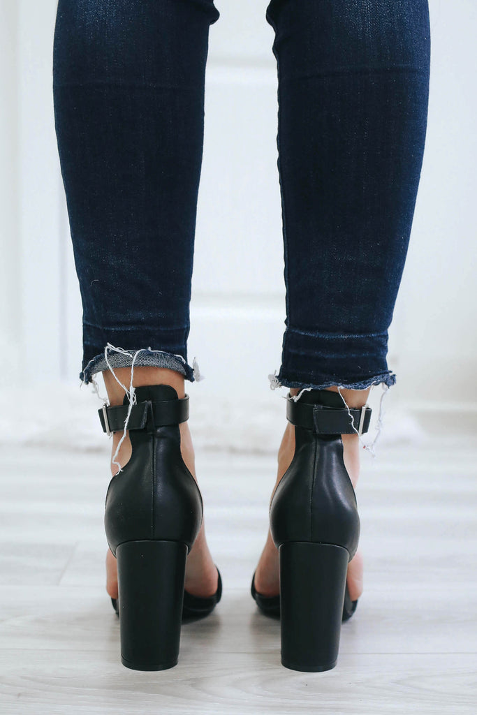 AVILA-04 Faux Leather High Heels - Online Clothing Boutique