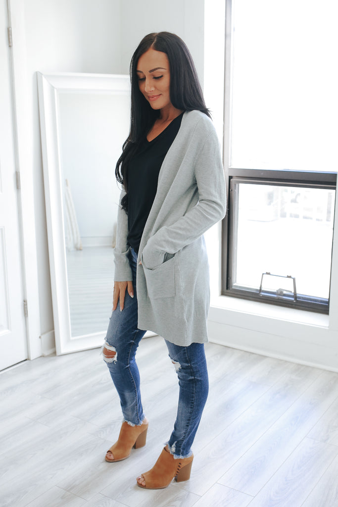 Super Soft Long Sleeve Cardigan - Online Clothing Boutique