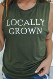 Locally Grown Graphic Muscle Tank - Online Clothing Boutique