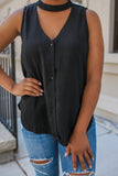 Black Cutout Tank - Online Clothing Boutique