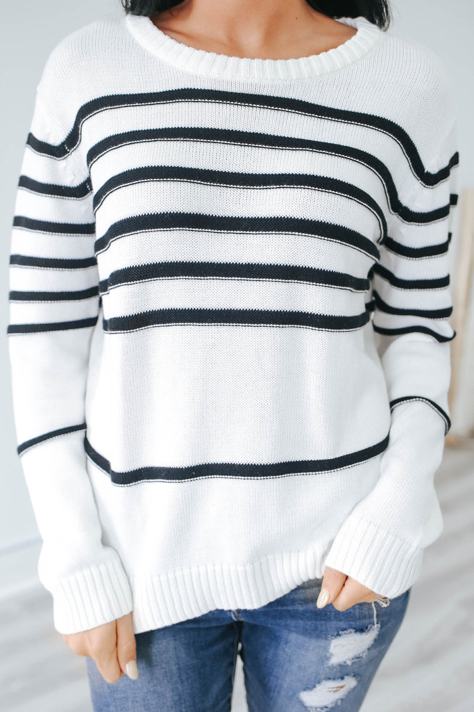 Striped Sweater - Online Clothing Boutique