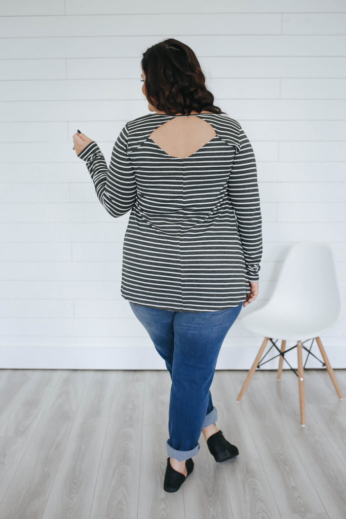 Plus Size Striped Top - Online Clothing Boutique