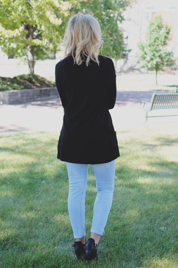 Perfect Basic Black Cardigan