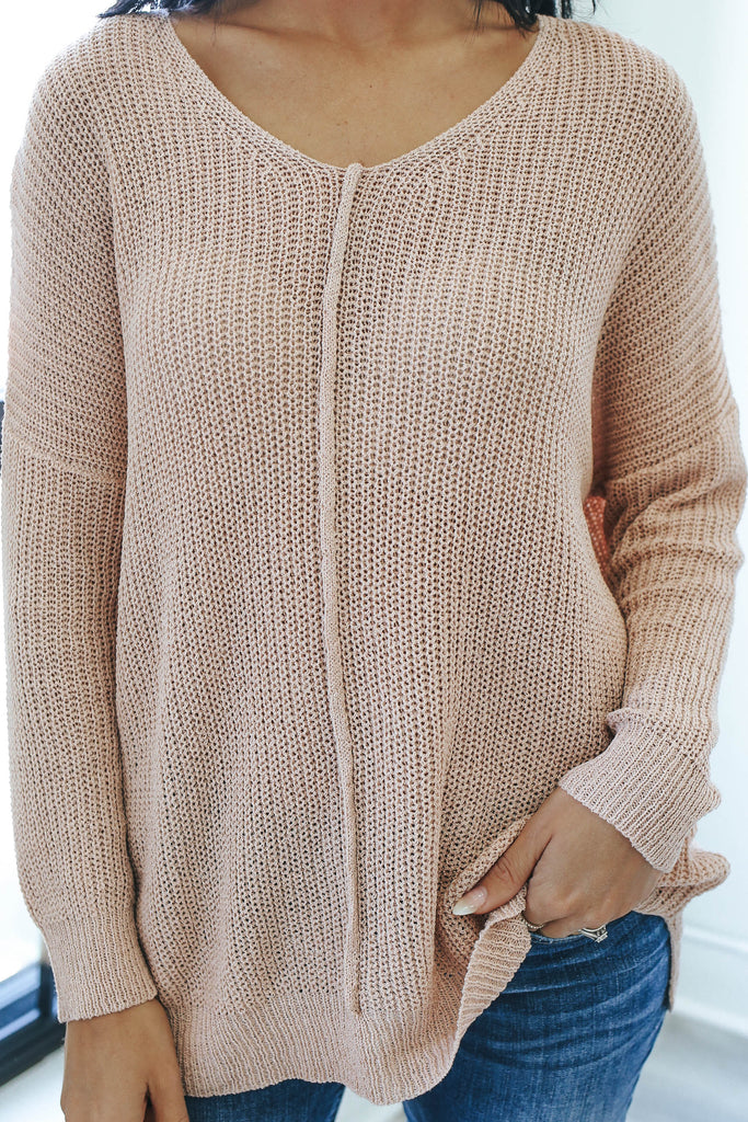Ribbed Knit Sweater - Online Clothing Boutique