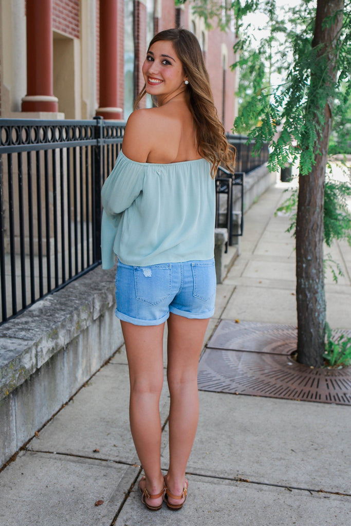 Long Bell Sleeve Off the Shoulder Top