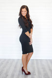 Bodycon Midi Dress - Online Clothing Boutique
