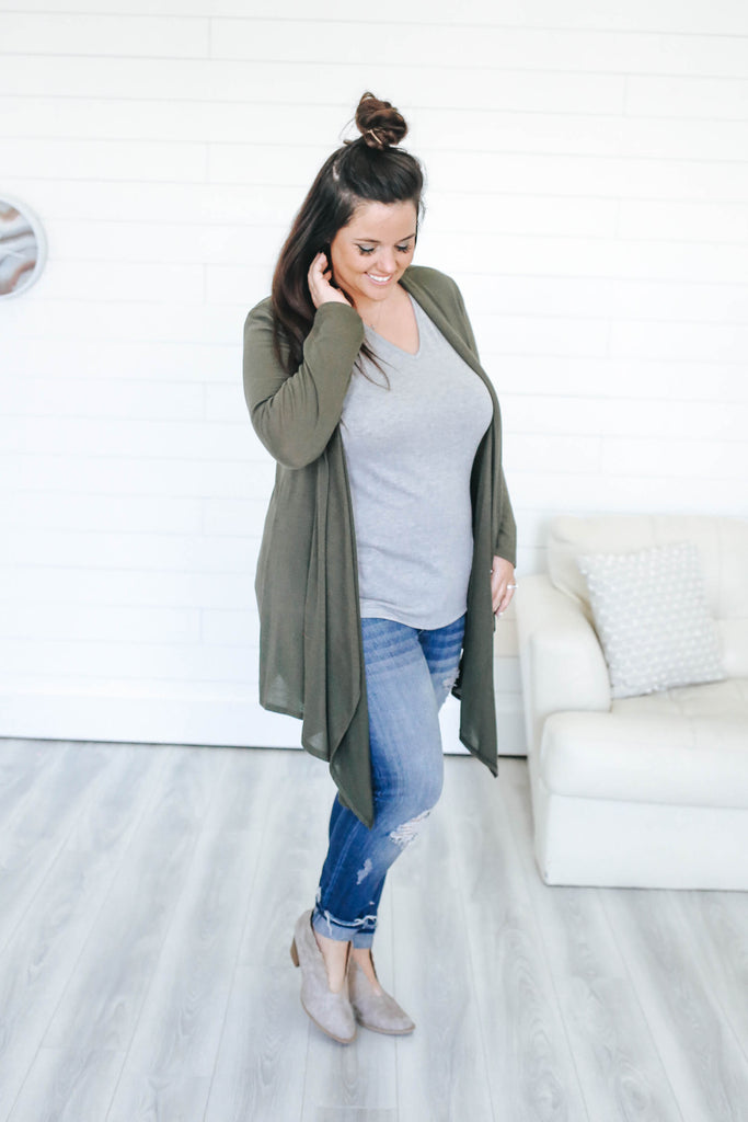 Plus Size Cardigan - Online Clothing Boutique