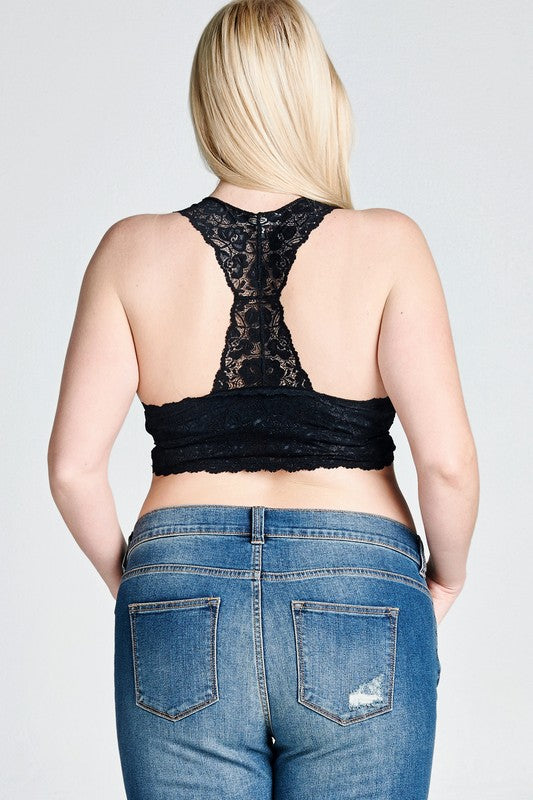 Plus Size Lace Bralette - Online Clothing Boutique