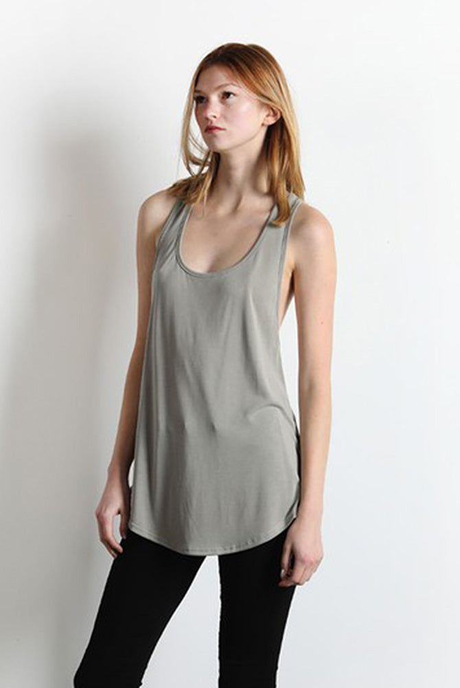 Twist Racer Back Tank - Online Clothing Boutique