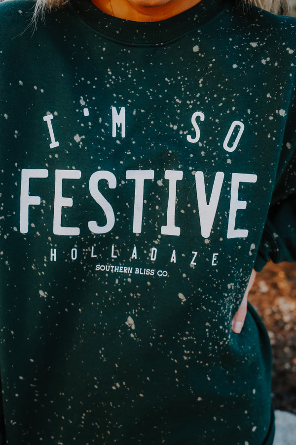 Bleached Holiday Graphic Sweatshirt | Stylish & Affordable | UOI Online