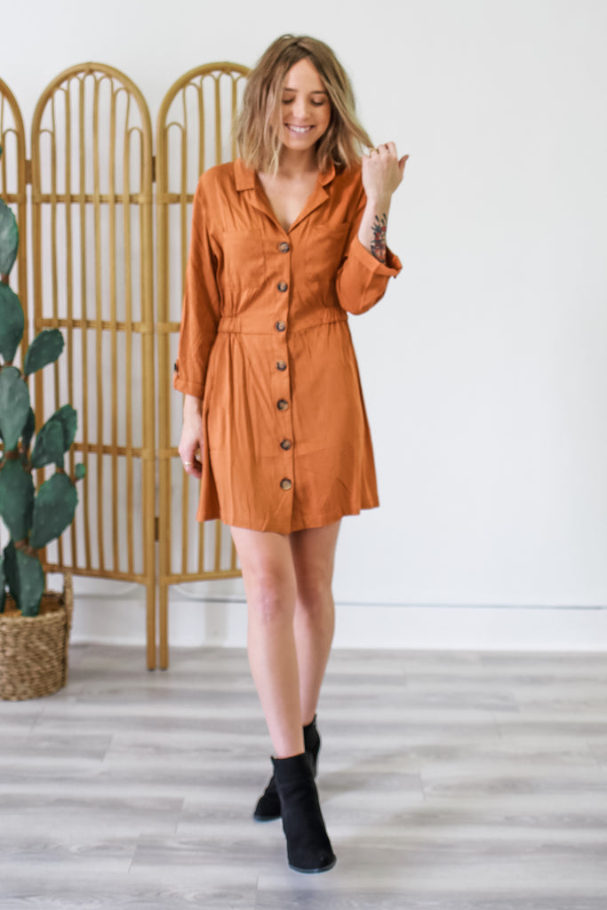 Button Down Collared Dress | Stylish & Affordable | UOI Online