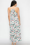 Floral Print Maxi Dress - Online Clothing Boutique