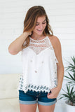 Crocheted Boho Top - Online Clothing Boutique