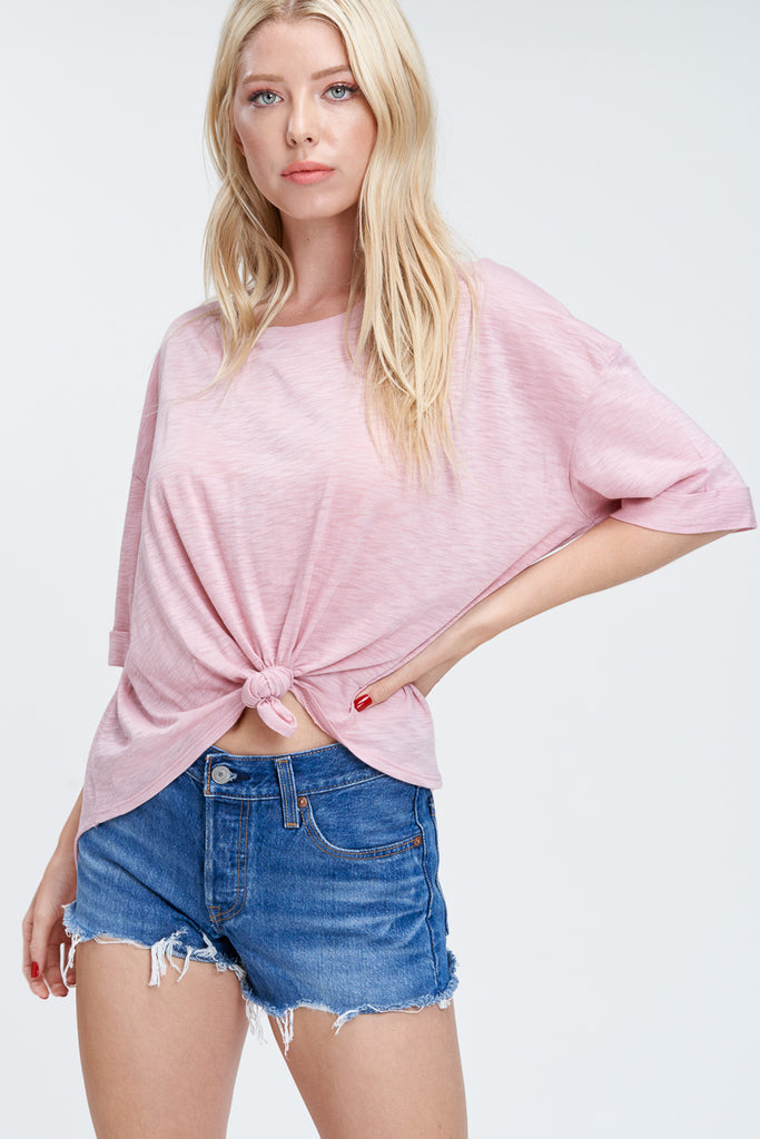 Slub Knit Top - Online Clothing Boutique