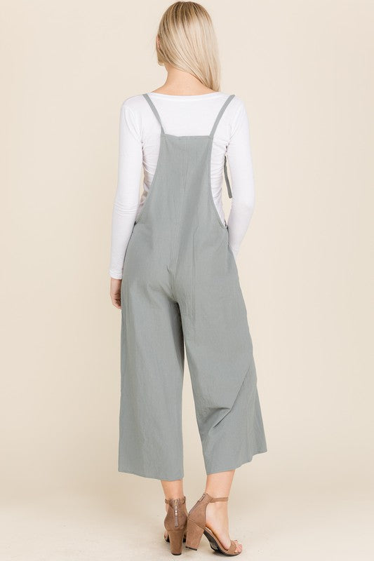 Wide Leg Cropped Jumpsuit - Online Clothing Boutique