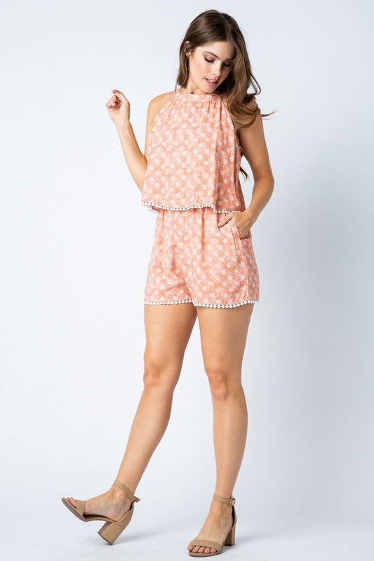 Floral Print Romper | Stylish & Affordable | UOI Online