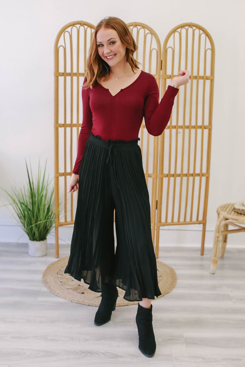 Pleated Culotte Pants | Stylish & Affordable | UOI Online