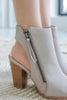 CANDENCE-05 Peep Toe Heeled Booties - Online Clothing Boutique