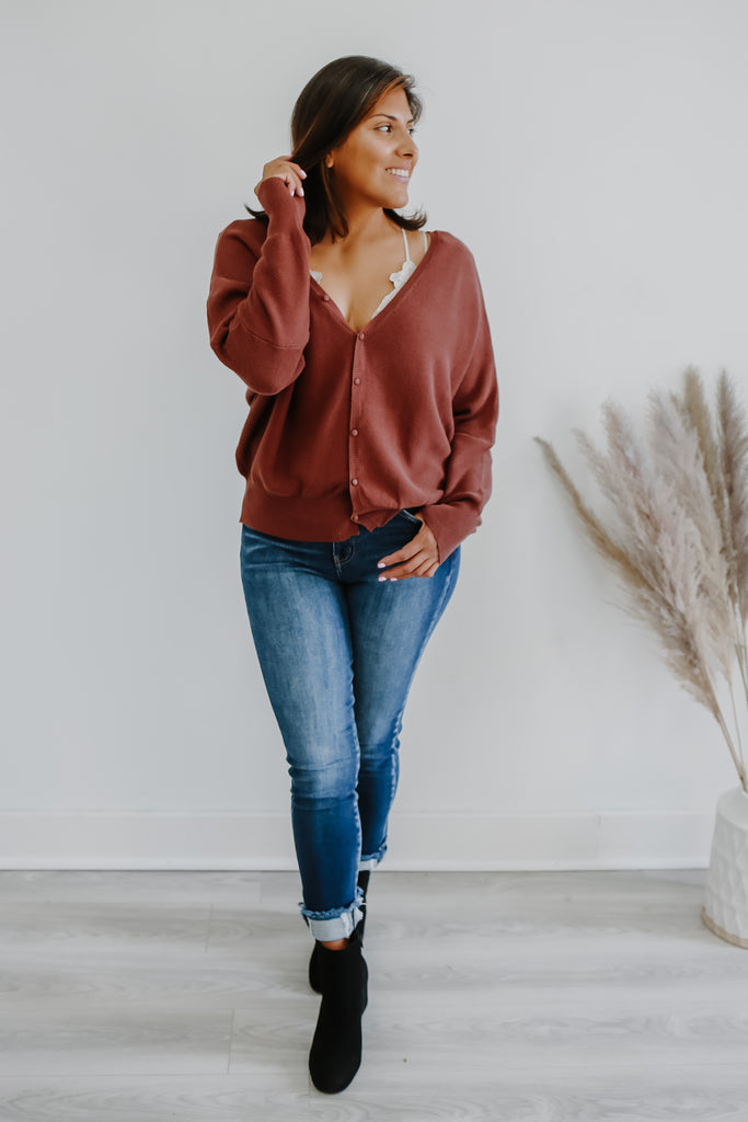 Double V Neck Woven Sweater | Stylish & Affordable | UOI Online
