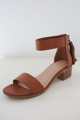 Faux Leather Heeled Sandals - Online Clothing Boutique