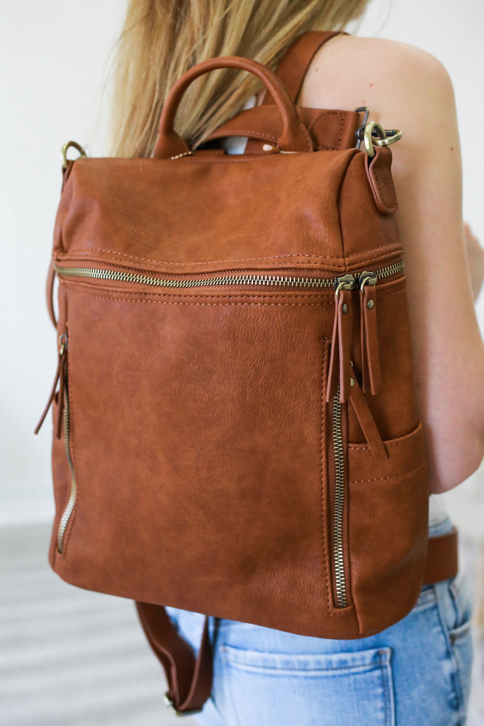 Faux Leather Backpack | Stylish & Affordable | UOI Online