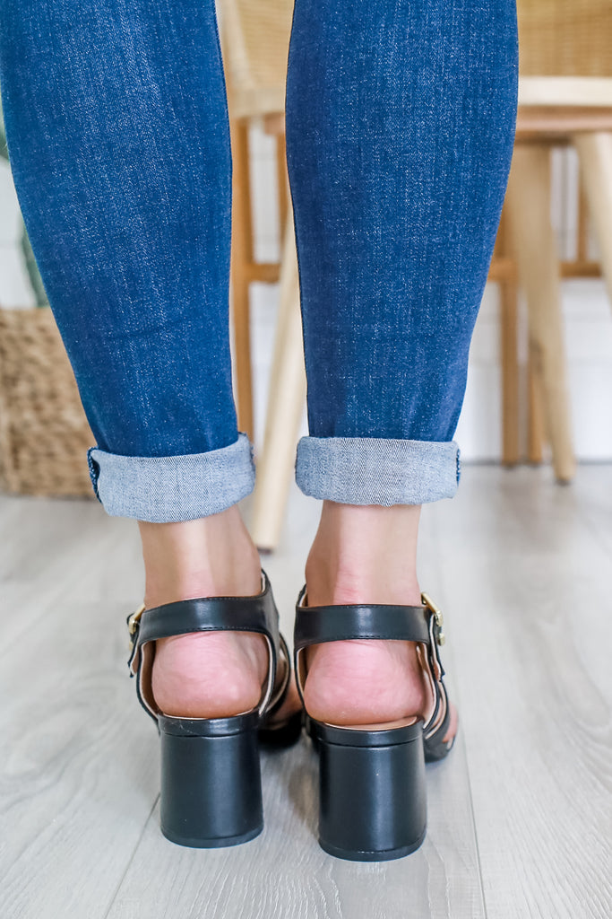 Faux Leather Strappy Heels | Stylish & Affordable | UOI Online