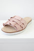 Faux Suede Ruffle Sandals - Online Clothing Boutique
