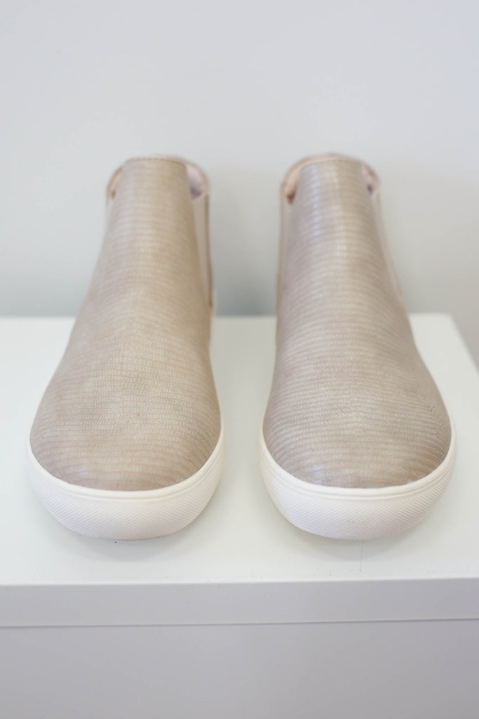 Textured Snakeskin Sneakers - Online Clothing Boutique