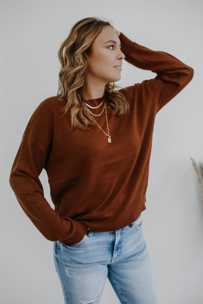 Lightweight Crew Neck Sweater | Stylish & Affordable | UOI Online