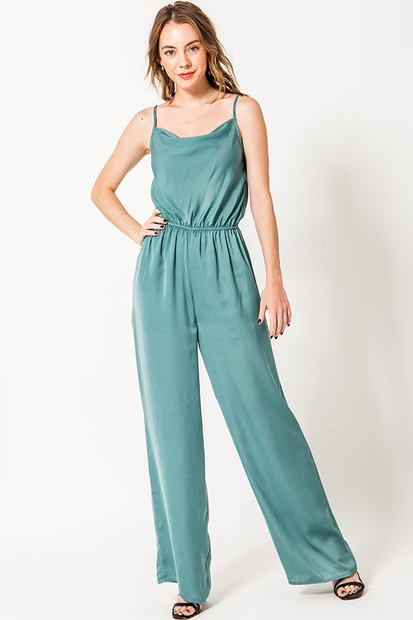 Wide Leg Jumpsuit - Online Clothing Boutique