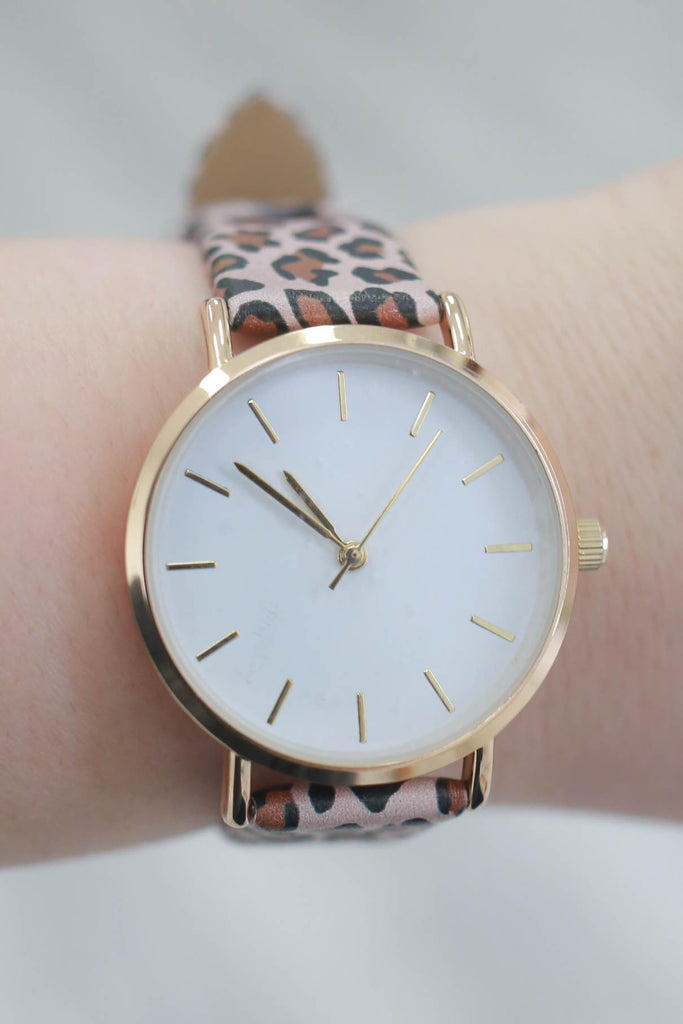 Leopard Print Watch - Online Clothing Boutique
