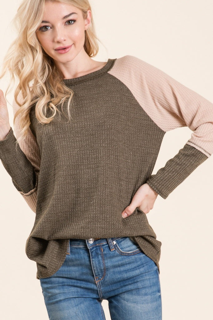 Waffle Knit Top | Stylish & Affordable | UOI Online