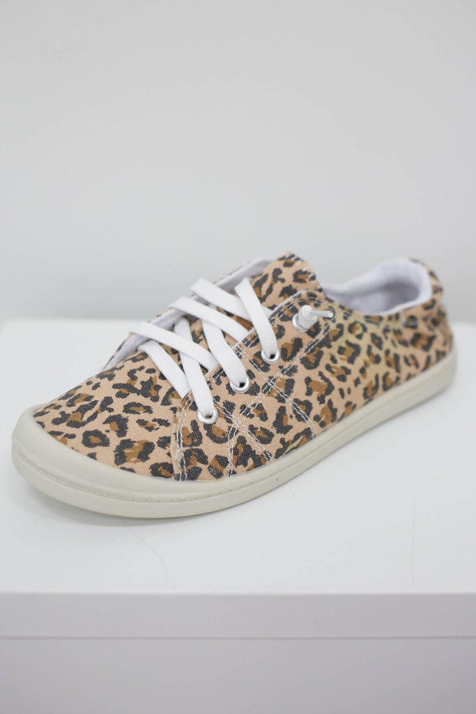 Canvas Lace-Up Sneakers - Online Clothing Boutique