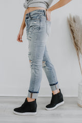 High Rise Relaxed Skinny Fit Paint Splatter Denim | Stylish & Affordable | UOI Online