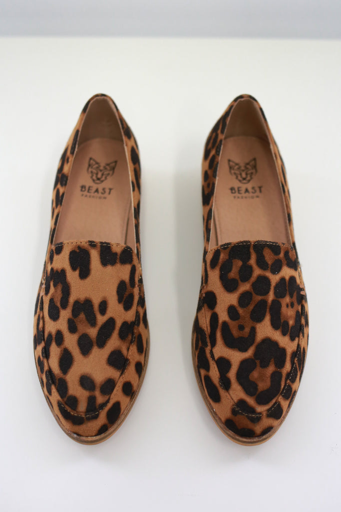 JORDAN-01 Leopard Loafers - Online Clothing Boutique