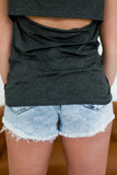 High Rise Acid Wash Denim Shorts | Stylish & Affordable | UOI Online