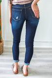 Dark Distressed Denim - Online Clothing Boutique