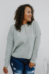 Half Button Chevron Knit Sweater | Stylish & Affordable | UOI Online