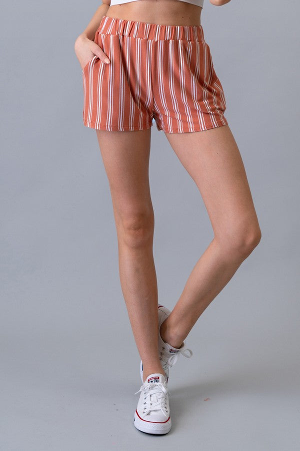 Striped Shorts - Online Clothing Boutique