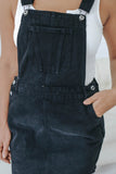 Black Denim Overall Dress - Online Clothing Boutique