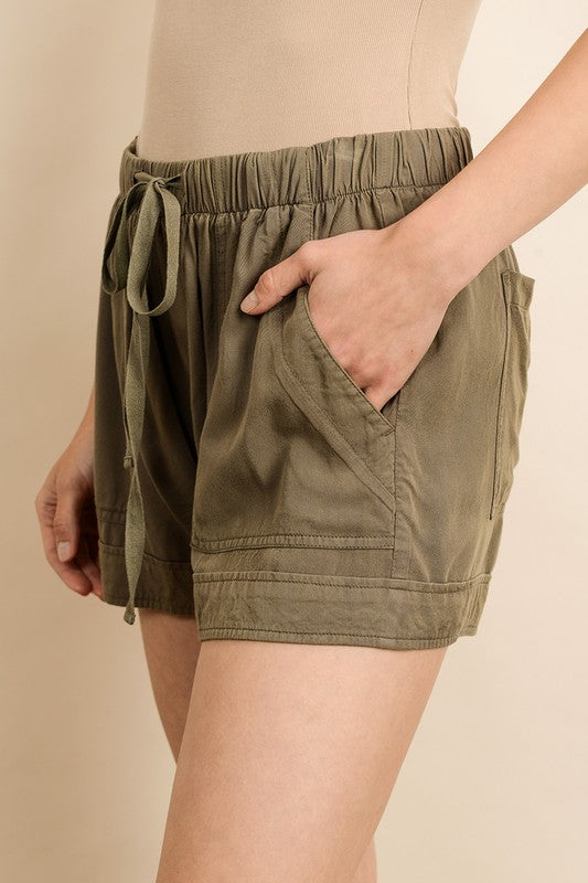 Drawstring Shorts - Online Clothing Boutique