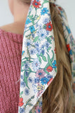 Floral Hair Scarf - Online Clothing Boutique