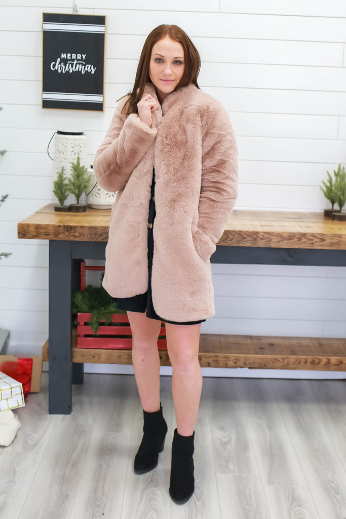 Faux Fur Coat | Stylish & Affordable | UOI Online