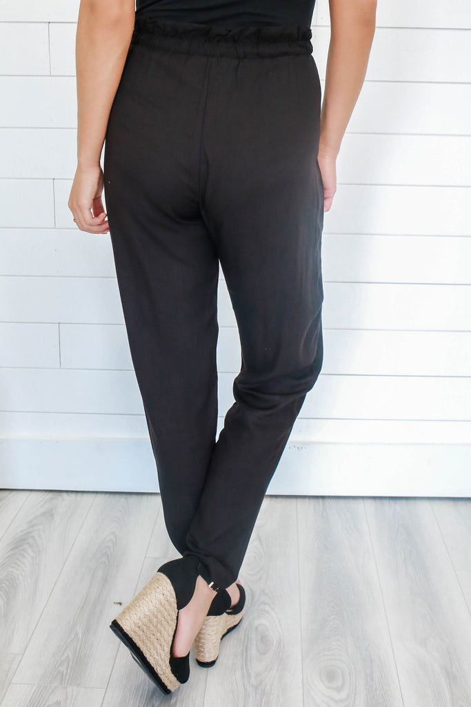 High Waisted Ankle Length Pants - Online Clothing Boutique
