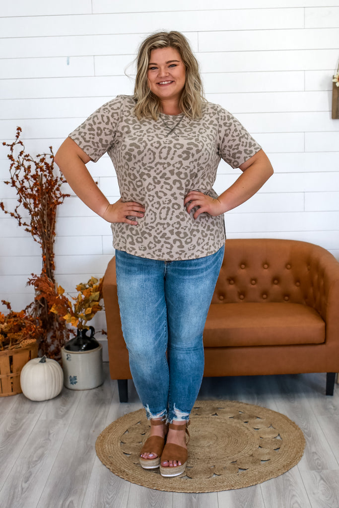 Short Sleeve Leopard Print Top | Stylish & Affordable | UOI Online