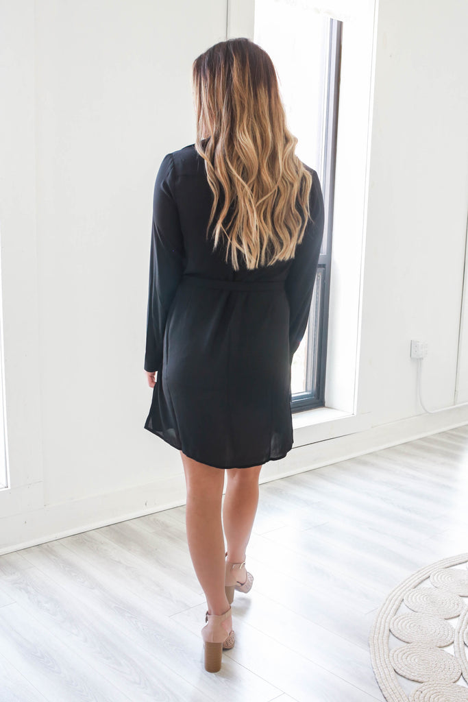 Button Down Shirt Dress - Online Clothing Boutique